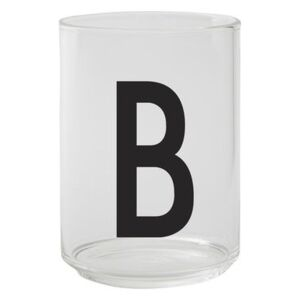 A-Z Glass - / Borosilicate glass - Letter B by Design Letters Transparent