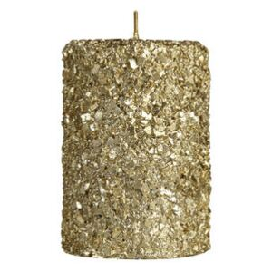 Pillar Candle - / Small - H 10 cm by & klevering Gold