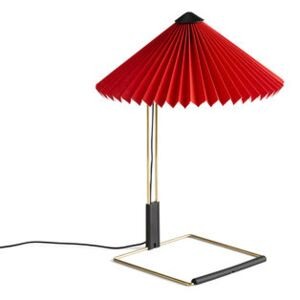 Matin Small Table lamp - / LED - H 38 cm - Fabric & metal by Hay Red