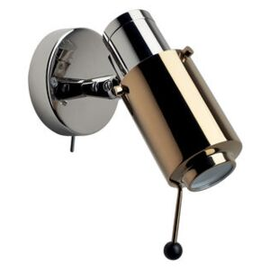 Biny Spot LED Wall light - / 1955 reissue - With switch by DCW éditions Gold/Silver/Metal