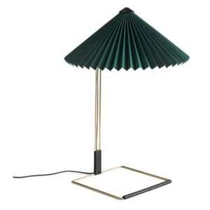 Matin Large Table lamp - / LED - H 52 cm - Fabric & metal by Hay Green