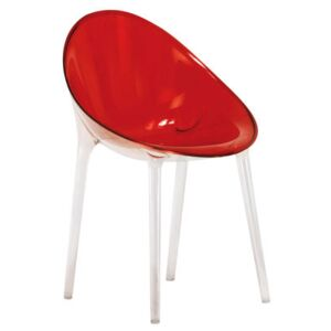 Mr. Impossible Armchair - Polycarbonate by Kartell Red