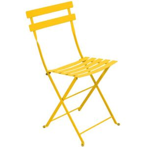 Bistro Folding chair - Metal by Fermob Yellow