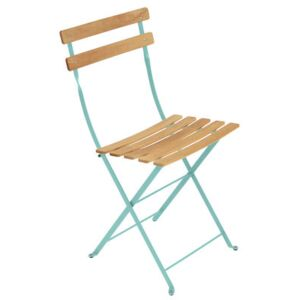 Bistro Folding chair - Metal & wood by Fermob Blue