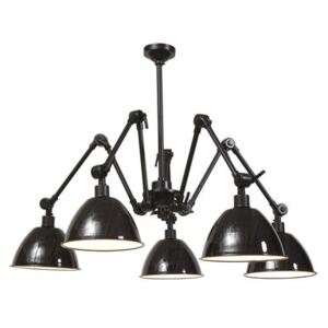 Amsterdam Pendant - / 5 metal lampshades - Ø 160 cm by It's about Romi Black