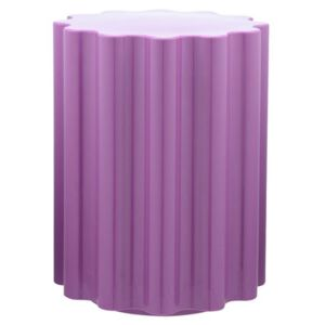 Colonna Stool - H 46 x Ø 34,5 cm - By Ettore Sottsass by Kartell Purple