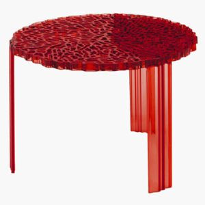 T-Table Medio Coffee table - H 36 cm by Kartell Red