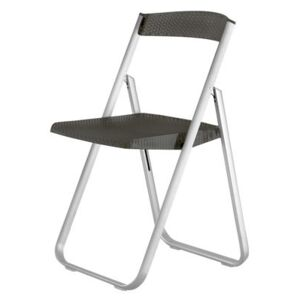 Honeycomb Folding chair - Polycarbonate & metal structure by Kartell Grey