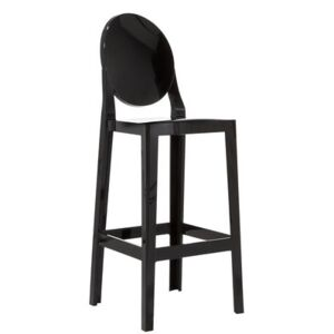 One more Bar chair - H 65cm - Plastic by Kartell Black