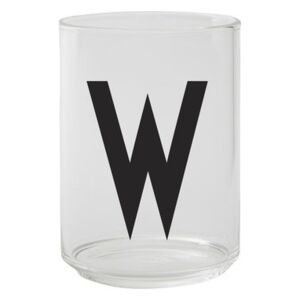 A-Z Glass - / Borosilicate glass - Letter W by Design Letters Transparent