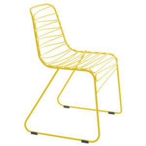 Flux Stacking chair - Metal by Magis Yellow