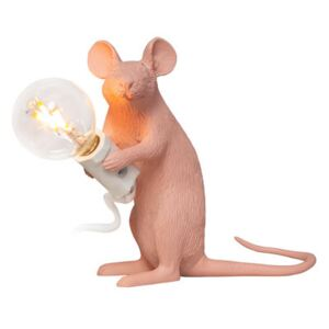 Mouse Sitting #2 Table lamp - / 20 years of MID limited edition by Seletti Pink