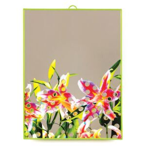 Toiletpaper Mirror - / Flowers with holes - Large H 40 cm by Seletti Multicoloured