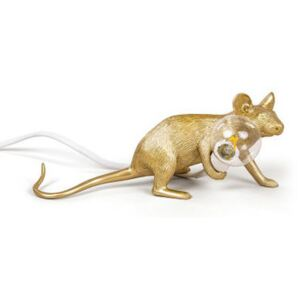 Mouse Lie Down #3 Table lamp - / Reclining mouse by Seletti Gold