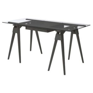 Arco Desk - / Glass and wood - 150 x 75 cm by Design House Stockholm Black