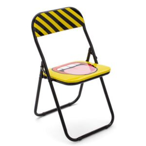 Tongue Folding chair - / padded by Seletti Multicoloured