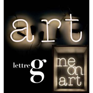 Neon Art Wall light with plug - Letter G by Seletti White