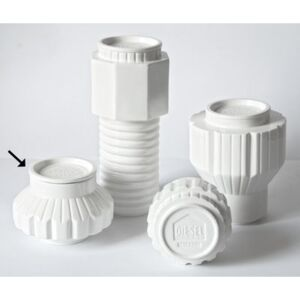 Machine Collection Box - / Ø 16 x H 13,5 cm by Diesel living with Seletti White