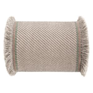 Garden Layers Cushion - / Large roll - Handwoven by Gan White/Beige
