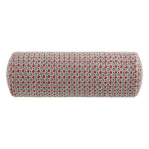 Garden Layers Cushion - / Small roll - Handwoven by Gan Blue/Red