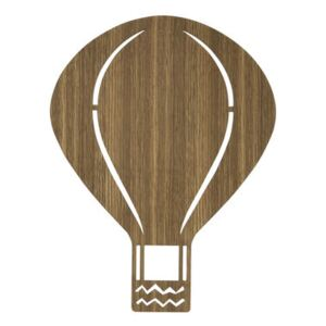 Air Balloon Wall light with plug by Ferm Living Natural wood