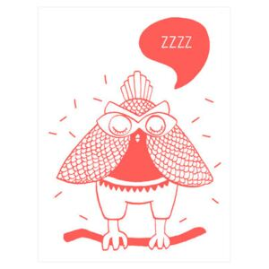 Loula Poster - Glow in the dark - 30 x 40 cm by OMY Design & Play Red