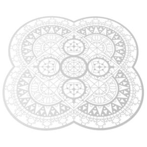 Petal Italic Lace Tablemat - / 33 x 33 cm - Trivet by Driade Kosmo White