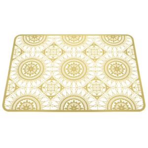 Italic Lace Tablemat - 45 x 32 cm - Trivet by Driade Kosmo Gold