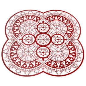 Petal Italic Lace Tablemat - / 33 x 33 cm - Trivet by Driade Kosmo Red