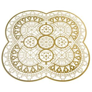 Petal Italic Lace Tablemat - / 33 x 33 cm - Trivet by Driade Kosmo Gold