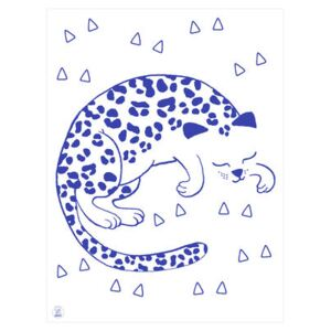 Leo Poster - Glow in the dark - 30 x 40 cm by OMY Design & Play Blue