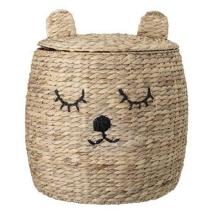 Ourson Basket - / with lid - Water hyacinth by Bloomingville Beige