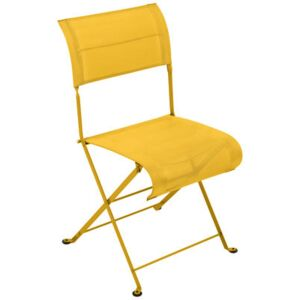 Dune Folding chair - Fabric by Fermob Yellow