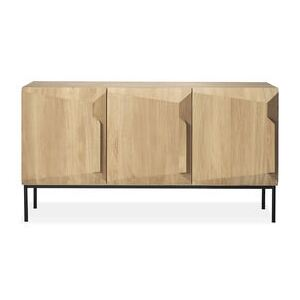 Stairs Dresser - / Solid oak L 150 cm / 3 doors by Ethnicraft Natural wood