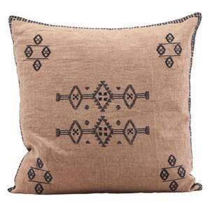 Inka Cushion - / Linen - 50 x 50 cm by House Doctor Pink