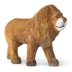 Animal Figurine - / Lion - Hand-carved wood by Ferm Living Multicoloured