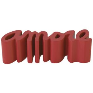 Amore Bench - L 145 cm - Outdoor - Plastic by Slide Red