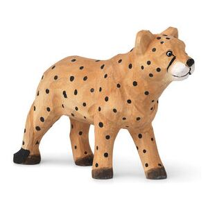 Animal Figurine - / Cheetah - Hand-carved wood by Ferm Living Multicoloured