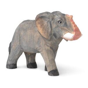 Animal Figurine - Elephant - Hand-carved wood by Ferm Living Multicoloured