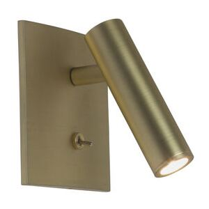 Enna Square LED Wall light - / Adjustable reading light - Switch by Astro Lighting Gold/Metal