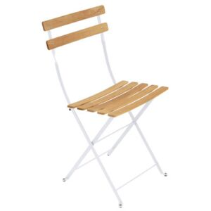 Bistro Folding chair - Metal & wood by Fermob White