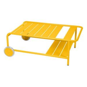 Luxembourg Coffee table - / With wheels 105 x 65 cm by Fermob Yellow