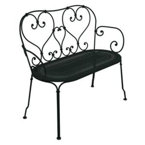 1900 Bench with backrest by Fermob Black