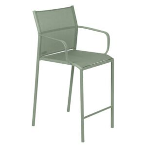 Cadiz High stool - / With armrests - H 65 cm by Fermob Green