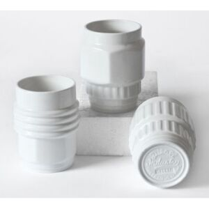 Machine Collection Mug - / Set of 3 by Diesel living with Seletti White