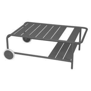 Luxembourg Coffee table - / With wheels 105 x 65 cm by Fermob Black