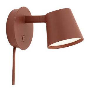 Tip LED Wall light with plug - / Adjustable - Dimmer by Muuto Brown