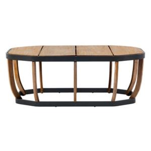 Swing XL Coffee table - / 110 x 57 cm by Ethimo Natural wood