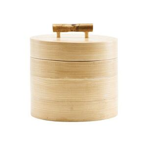 Bamboo Box - / Ø 12 x H 10 cm by House Doctor Natural wood