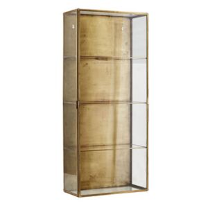Cabinet Large Wall storage - / Showcase - L 35 x H 80 cm by House Doctor Transparent/Copper